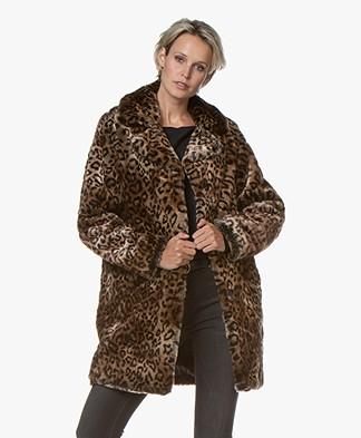 MKT Studio Malori Faux-fur Print Jas - Leopard