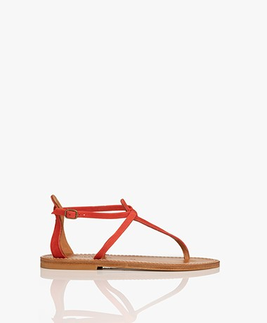 K. Jacques St. Tropez Buffon Suede Leather Sandals - Dragon