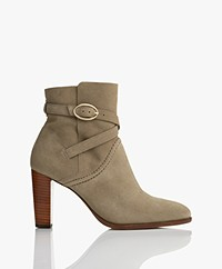 Vanessa Bruno Suede Leather Ankle Boots - Tilleul