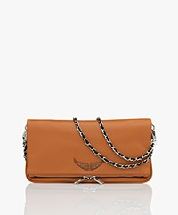 Zadig & Voltaire Rock Leren Schoudertas/Clutch - Tan