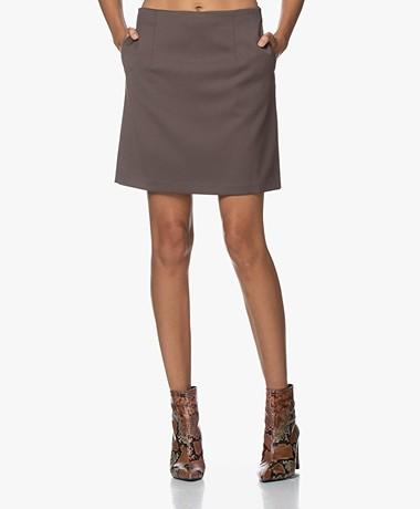 Filippa K Aila Cavalry Twill Skirt - Taupe