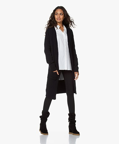 by-bar Nisa Mid-length Open Cardigan - Midnight