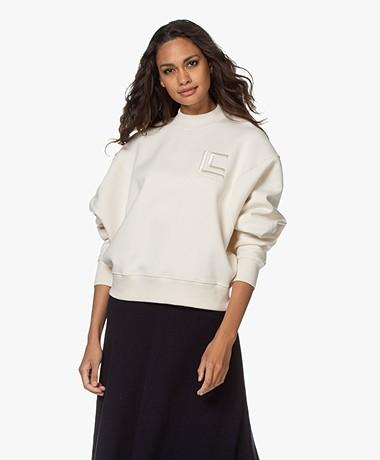 Les Coyotes de Paris Riley Logo Sweatshirt - Off-white