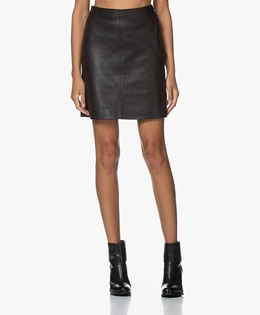 Filippa K Holly Lamsleren Mini Rok - Zwart