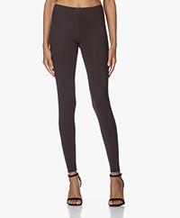Woman by Earn Whitney Bonded Tech Jersey Leggings - Dark Brown