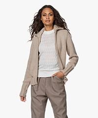 LaSalle Merino Wool Blend 2-way Zip Cardigan - Sand