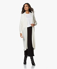 Sibin/Linnebjerg Sister Long Open Cardigan - Off-white