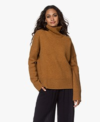 Vanessa Bruno Malo Yak Blend Turtleneck Sweater - Mustard