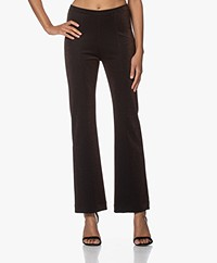 no man's land Jersey Lurex Broek - Double Espresso