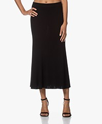 Repeat Knitted Merino Midi Skirt - Black