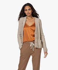 indi & cold Rib Knitted Button-through Cardigan - Beige