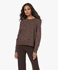 Pomandère Alpaca-linen Blend Sweater - Dark Brown