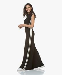 602e67d1ff66 Norma Kamali Side Stripe Sleeveless Travel Jersey Jumpsuit - Black Off-white  Stripe ...