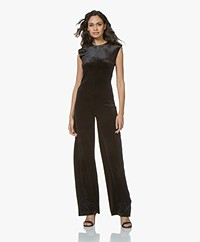 Norma Kamali Sleeveless Jersey Jumpsuit - Black