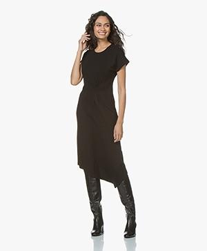 By Malene Birger Sketsy Twill Jersey Midi Dress - Black
