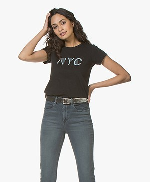 Rag & Bone New York Print T-shirt - Zwart