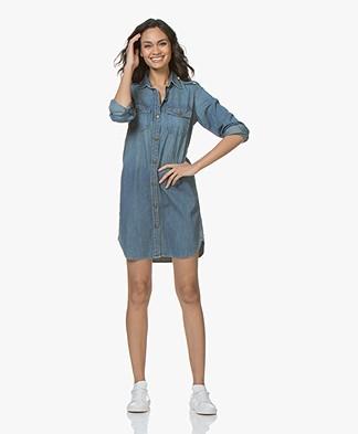 Current/Elliott The Perfect Denim Shirt Dress - Miner
