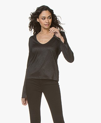 Drykorn Maneli Lurex Long Sleeve - Black