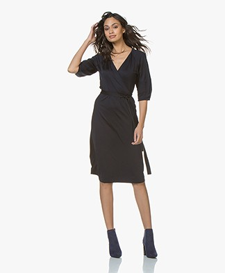 Filippa K Jersey Wrap Dress - Navy