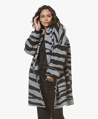 Zadig & Voltaire Mia Oversized Coat-cardigan - Grey Melange