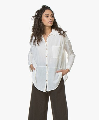 Friday's Project Cotton Gauze Blouse - Off-white