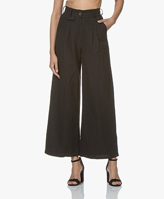 Friday's Project Pleated Wide Leg Pants - Black