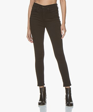 Rag & Bone High Rise Ankle Skinny Jeans - BLK