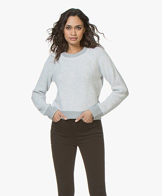 Rag & Bone Valerie Crew Chenille Sweater - Grey