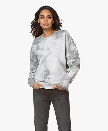 IRO Nosila Tie DyePrint Sweater - Pearl Grey