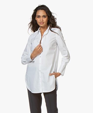 By Malene Birger Cologne Katoenen Overhemd - Pure white