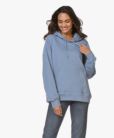 Filippa K Soft Sport Hooded Sweatshirt - Misty Blue