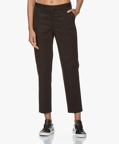 Filippa K Emma Cropped Katoenen Pantalon - Zwart