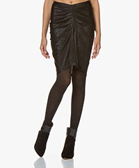 IRO Tirda Pleated Skirt with Coating - Black