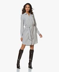 Josephine & Co Anna Tencel Shirt Dress - Light Grey