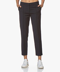 By Malene Birger Santsi Wool Blend Pants - Night Sky