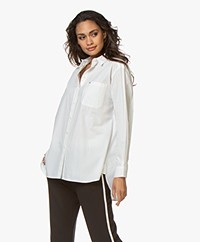 indi & cold Cero Boyfriend Poplin Blouse - Off-white