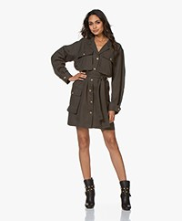 ANINE BING Kaiden Tencel Shirt Dress - Willow Green