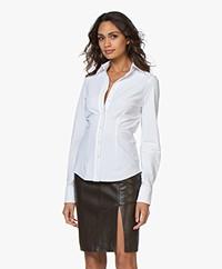 JapanTKY Ayaka Tailored Jersey Blouse - White