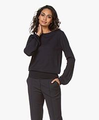 Plein Publique La Coeur Merino Wool Sweater - Dark Blue