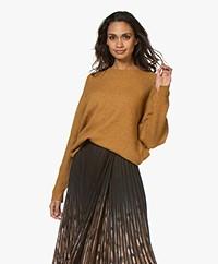 By Malene Birger Ana Ribbed Sleeve Alpaca Blend Sweater - Tobacco