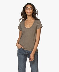Rag & Bone Cotton U-neck T-shirt - Grymoss