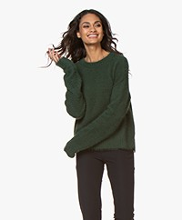 Denham Nikko Fluffy Viscose Blend Sweater - Emerald