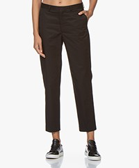 Filippa K Emma Cropped Cotton Pants - Black