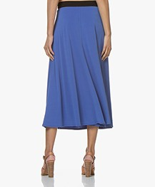 By Malene Birger Crepe Jersey A-line Midi Skirt - Vintage Blue