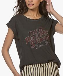 MKT Studio Tavez Rolling Stones T-shirt - Gewassen Zwart