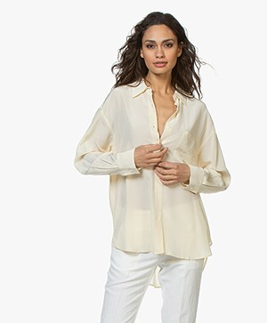 Filippa K Toni Silk Blouse - Butter