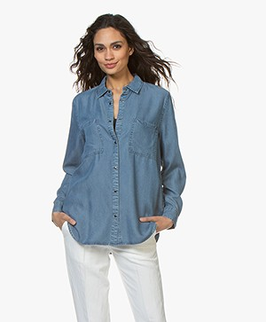 Repeat Tencel Chambray Blouse - Indigo
