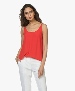 ba&sh Figue Reversible Crêpe Top - Rood