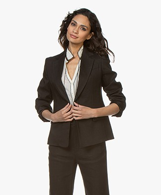 Joseph New Williams Linnenmix Blazer - Zwart