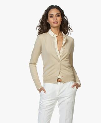Filippa K Merino Short Cardigan - Sahara
